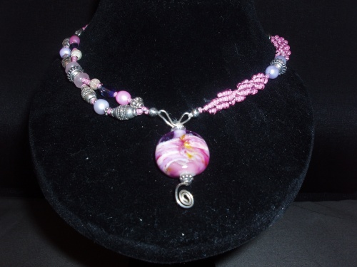 hand woven mixed bead necklace