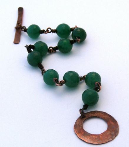 Canadian Jade and Copper Bracelet