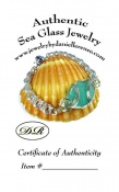 Certificate of Authenticity for Sea Glass Jewelry