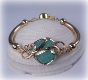 Authentic Sea Glass Bracelets In Gold